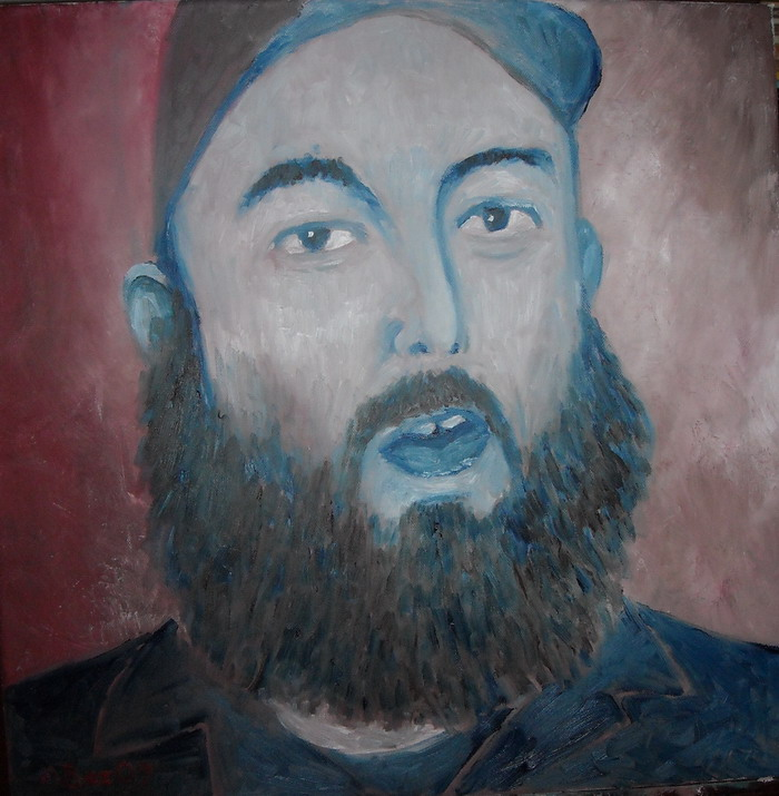 portret-toast coetzer. olie