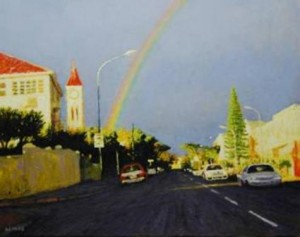 """Kloofnek Road"" Oil on Canvas, 56 x 71cm"