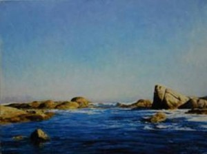 """Random sea view"" Oil on canvas, 45 x 60cm"