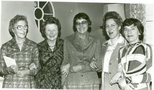 Anna M. Louw, Audrey Blignault, Elise Muller, Lina Spies en Berta Smit