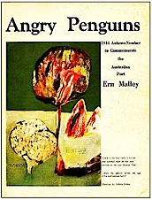 Die omslag van die 1944-herfsuitgawe van Angry Penguins met 'n omslagkunswerk deur Sidney Nolan.