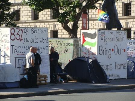 Protesaksie in Londen