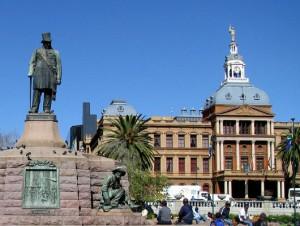 Die Ou raadsaal op Kerkplein Pretoria