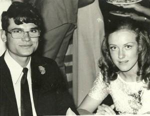 Matriekafskeid met Louise. 1971