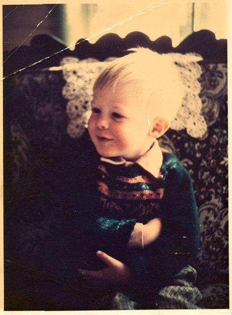 Twee jaar oud, in Meyerspark, Pretoria, 1971