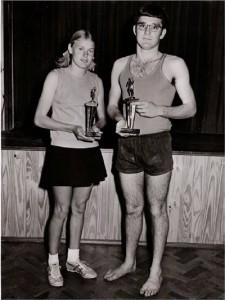Atletiek-beker gewen. 1973