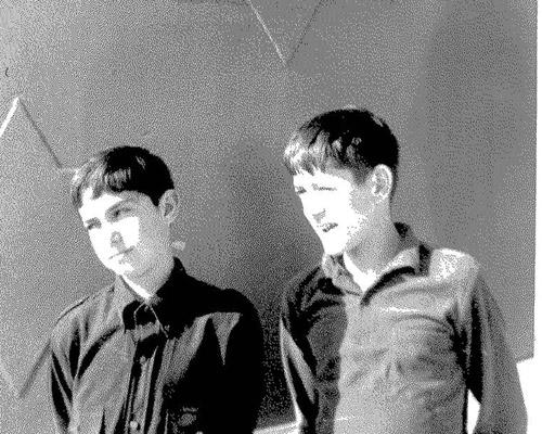 Saam met 'n Engelse jeugvriend, Derek. 1966