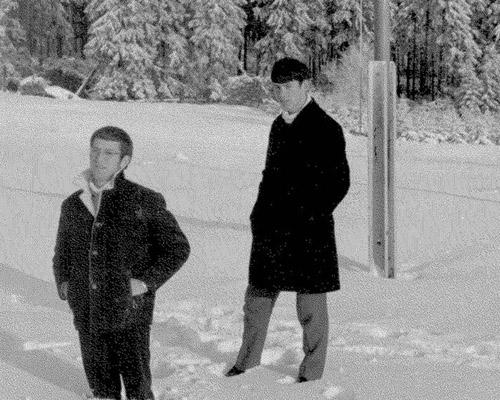 In die sneeu in Duitsland. 1972