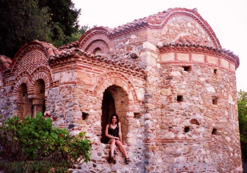 In 'n Bisantynse kapel, Griekeland. 2002