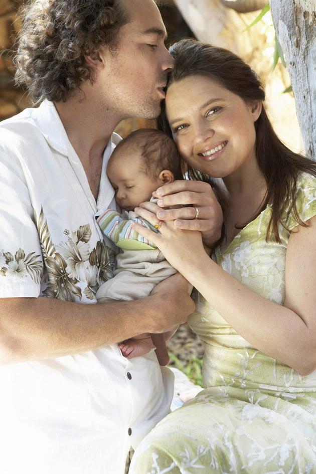 Gesinsfoto: Gerrit, Aden & Carina. 2007