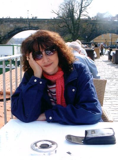 In Praag. Moeg geloop. 2008
