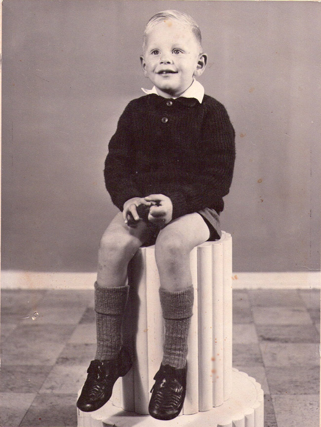 Drie jaar oud. 1958