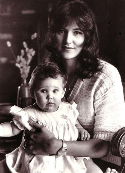 Saam met dogter Marcelle in Westville,1979