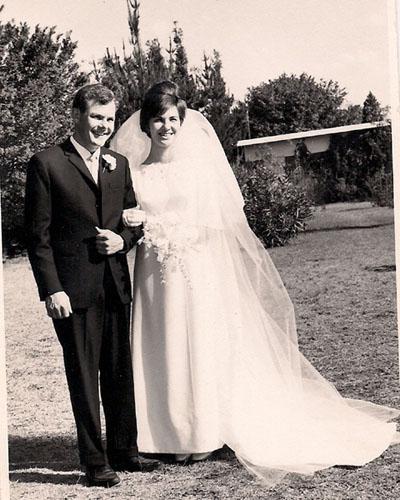 Hans op sy troudag op 5 Oktober 1968