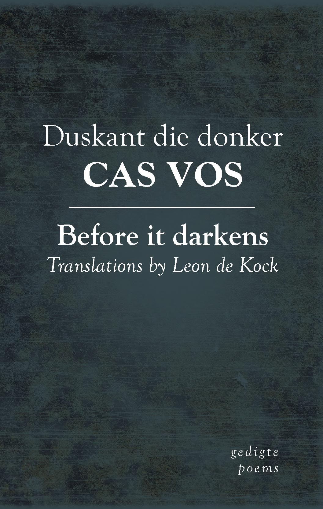 Duskant die donker/Before it darkens