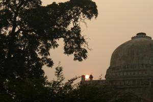 Sonsondergang, Delhi