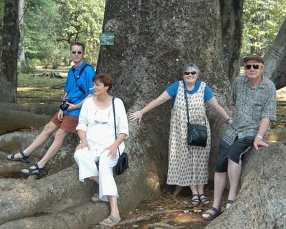 Bogor botaniese tuin in Wes Java. Melanie 3de van regs