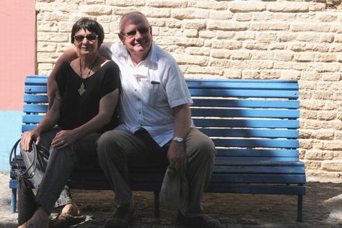 Melanie & Piet in Ilja Negra, Pablo Neruda se huis, oos van Valpariaso, Chili