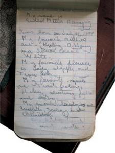 Ernst Hemmingway (1899-1961). Notaboek