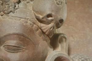 Gevonde skedeltjie. Nasionale Museum, New Delhi. ©m.o.