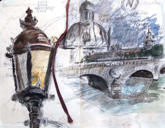 Uit: LJVV sketsboek, Parys. Die inspirasie vir hierdie Buiteblik-blog