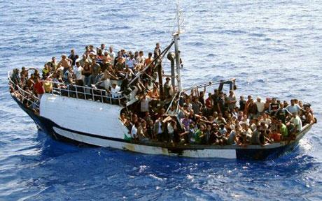 Migrante op pad na Europa