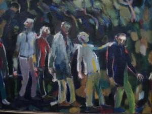 De blinden, olieverf, 1990. Henk van Loenen