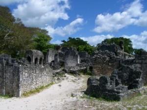 Die Kaole ruïnes buite Bagamoyo