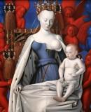 Jean Fouquet - Madonna omringd door serafijnen en cherubijnen