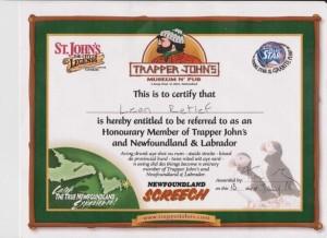 My ere-Newfoundland sertifikaat