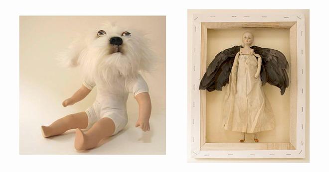 Dog Boy en Crow Angel, deur Helen Ivory