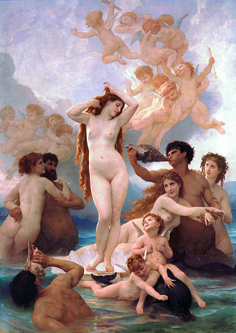 Geboorte van Venus. William-Adolphe Bouguereau. 1879