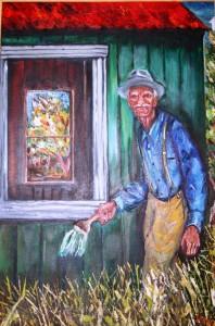 'Piet Painter'. 'n Skildery wat Meyer van sy pa gemaak het.
