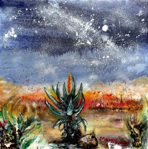 'Veldfire and aloes' . Meyer van Rensburg.