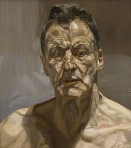 Selfportret van Lucian Freud