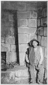 Man by Machu Picchu in 1922
